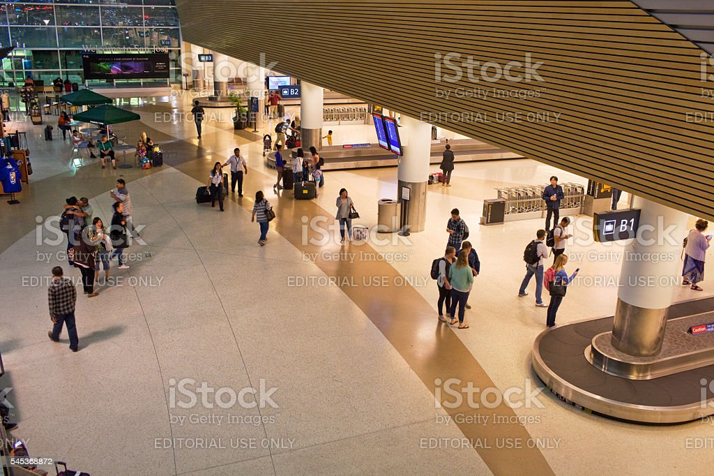 Baggage Claim at an Airport stock photo