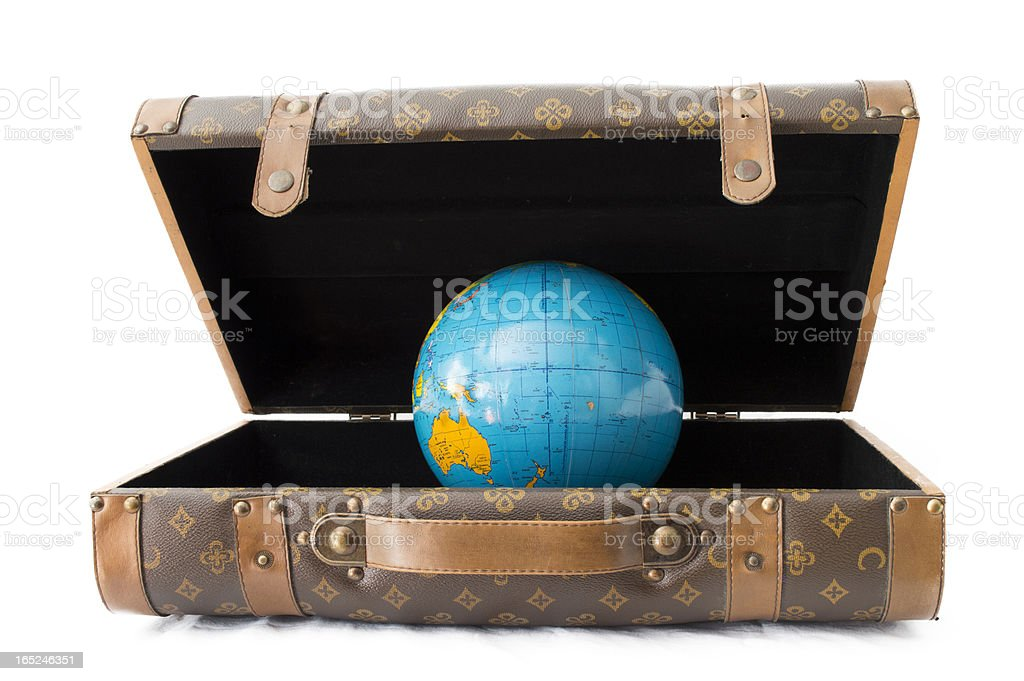 baggage Earth royalty-free stock photo