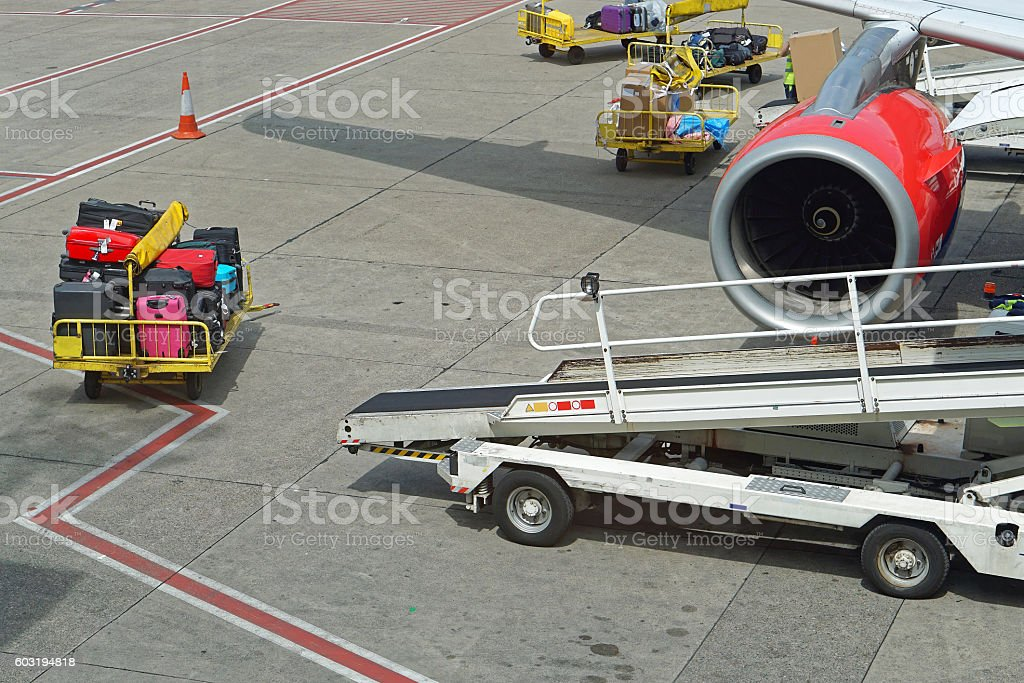 Baggage handling stock photo