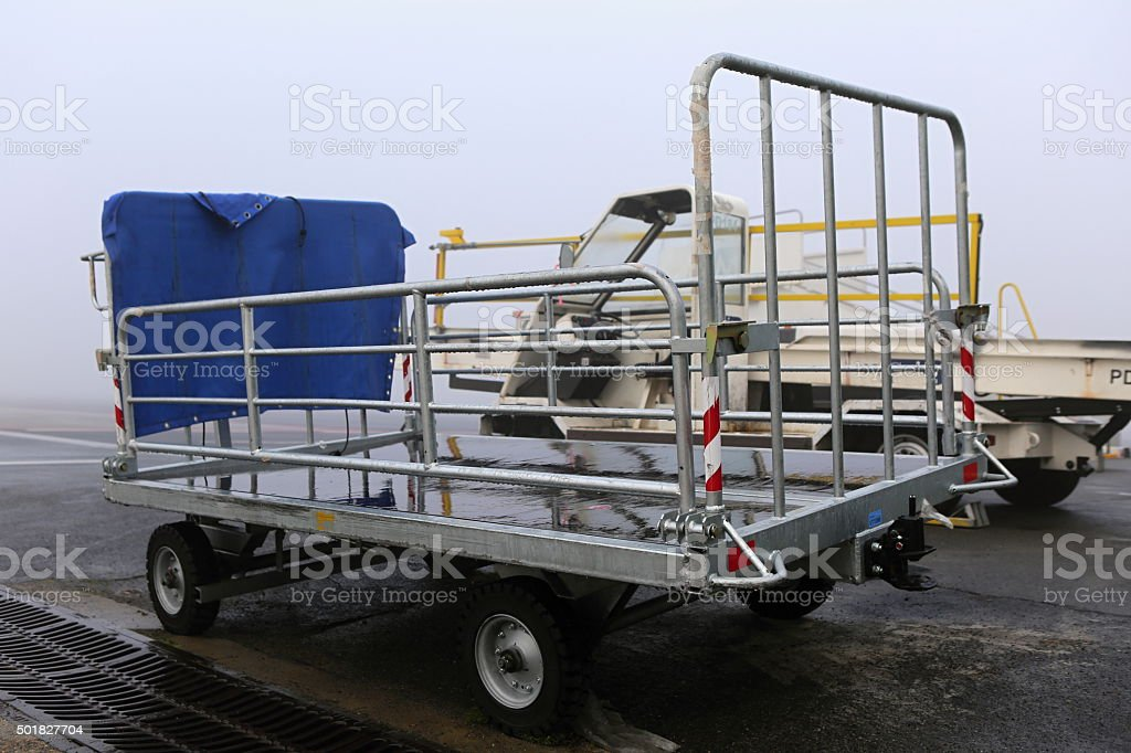 Baggage trolley stock photo