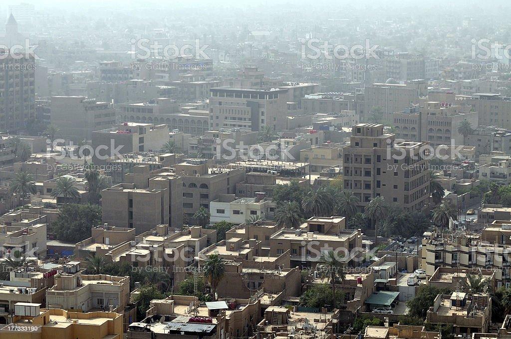 Baghdad cityscape stock photo