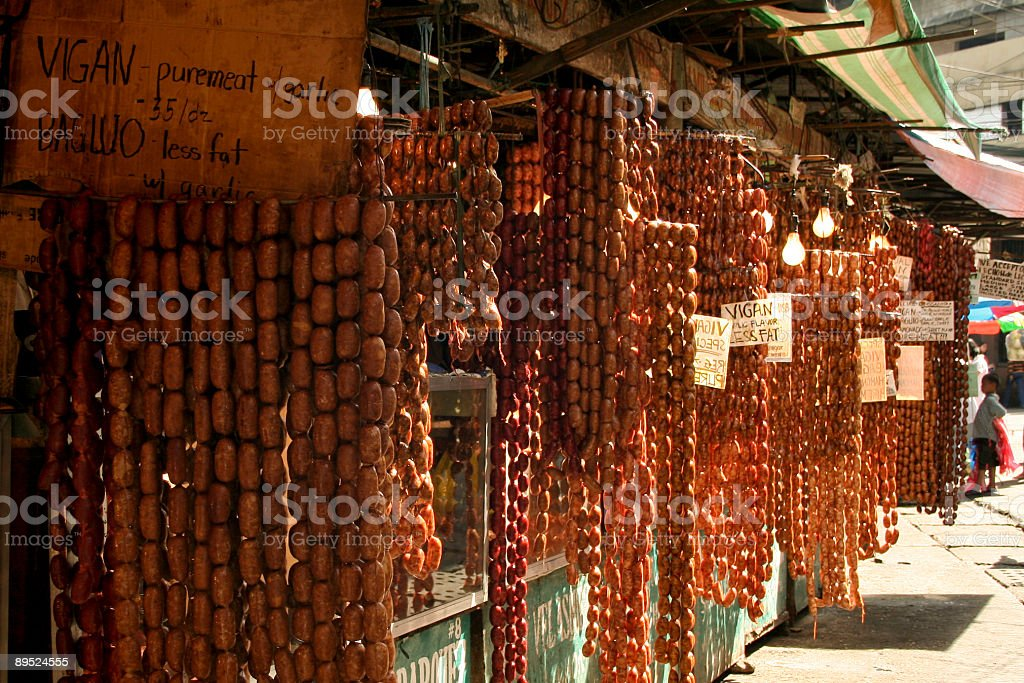 bagiuo sausages philippines market royalty-free stock photo