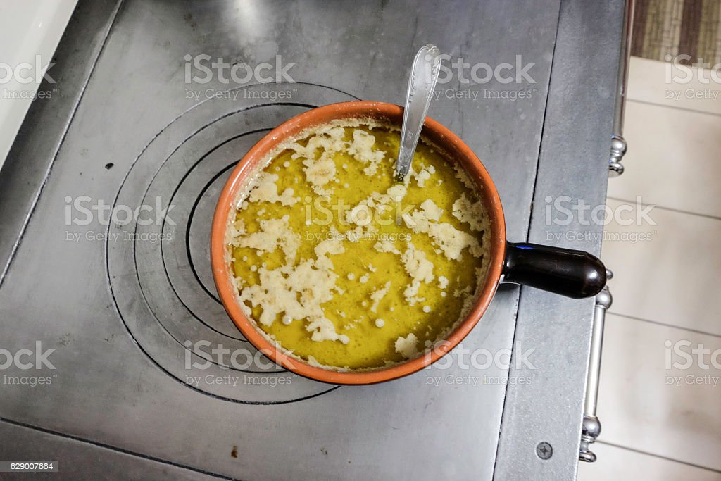 Bagna cauda. Italian dish of Piedmontese cuisine royalty-free stock photo