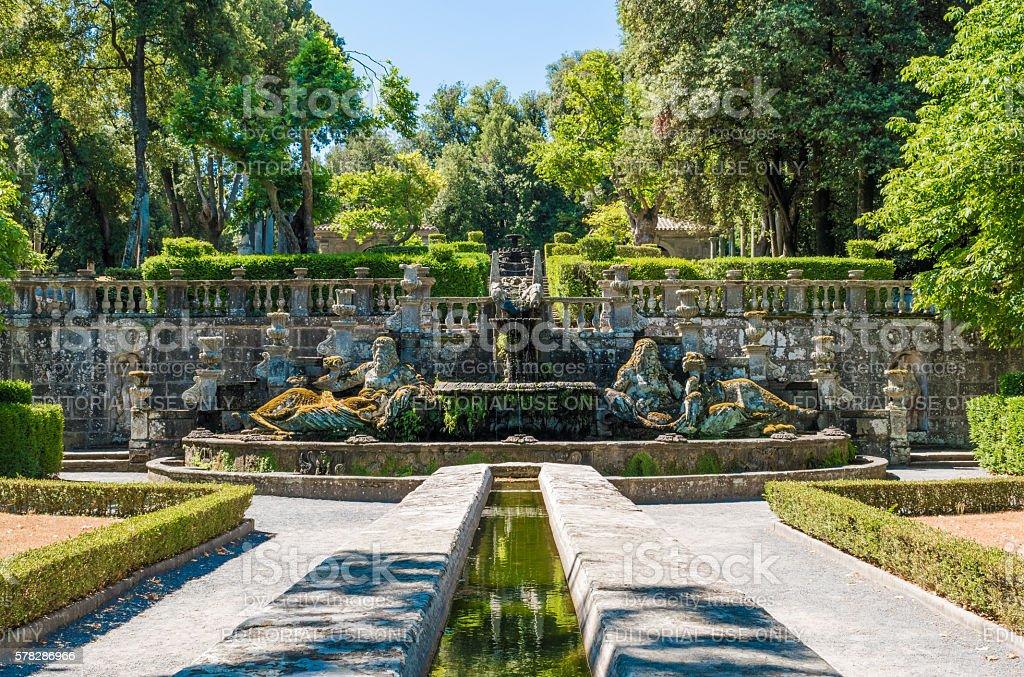 Bagnaia (Viterbo, Italy) - Town and Villa Lante stock photo