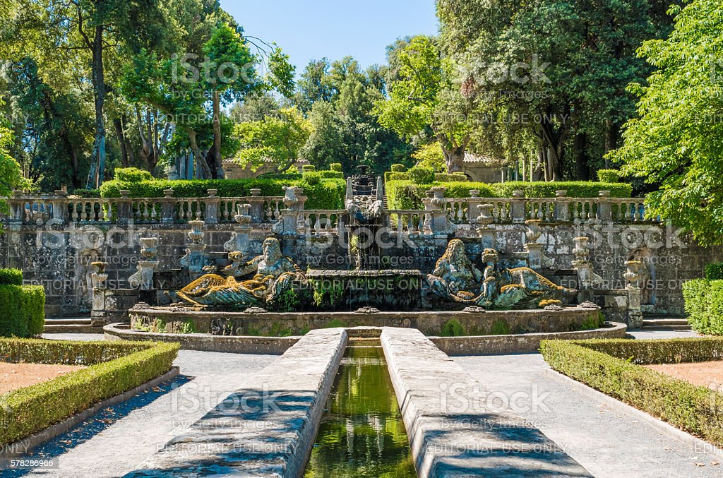 Bagnaia (Viterbo, Italy) - Town and Villa Lante stock photo