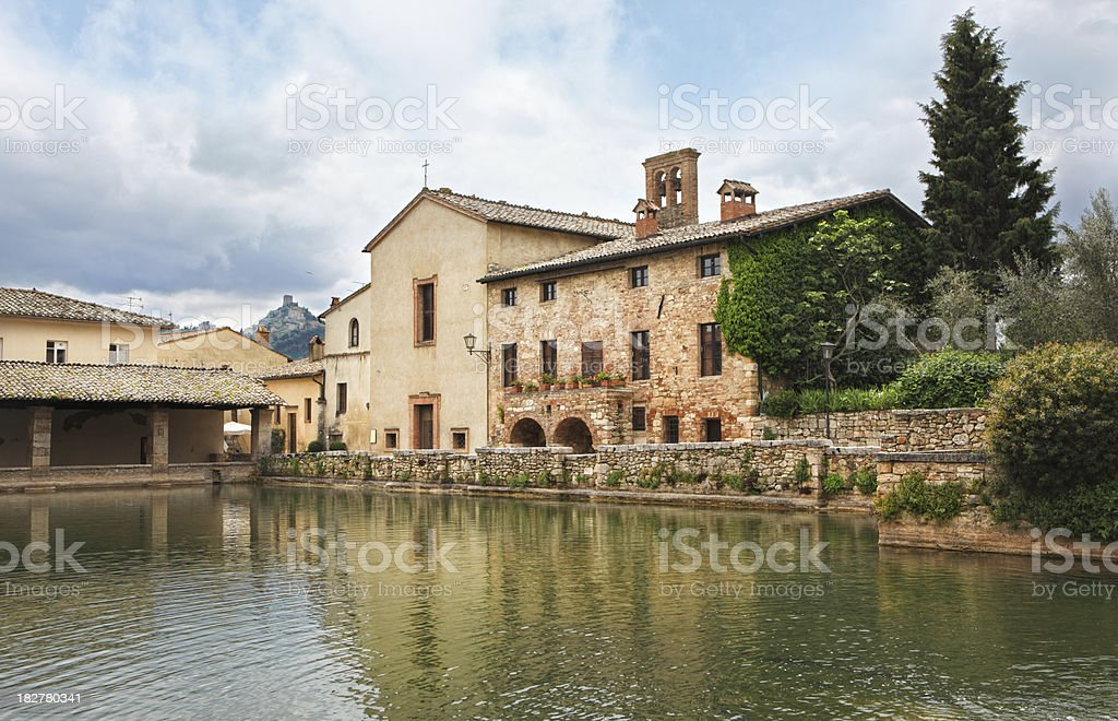 Bagno Vignoni in Val d'Orcia, Tuscany Italy royalty-free stock photo