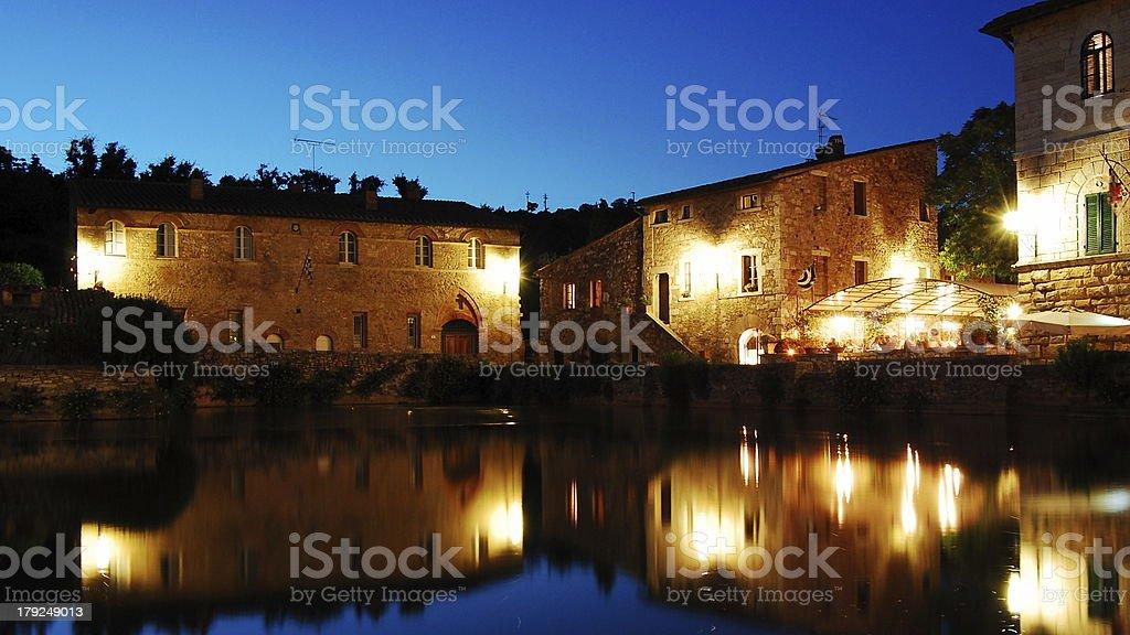 Bagno Vignoni, Italy royalty-free stock photo