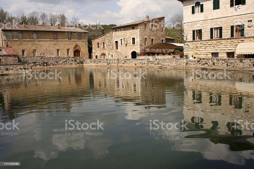 Bagno Vignoni's miracle square royalty-free stock photo