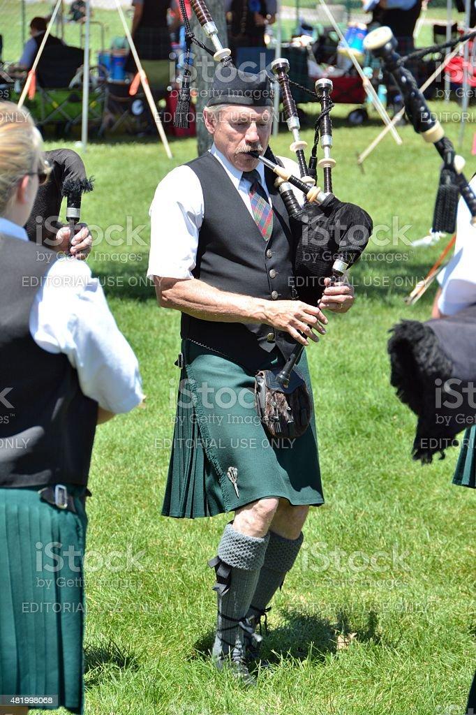 Bagpipe Playing stock photo