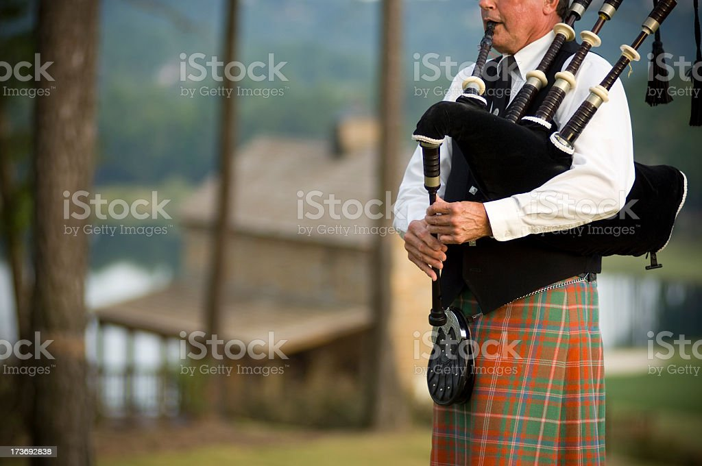 Bagpiper stock photo