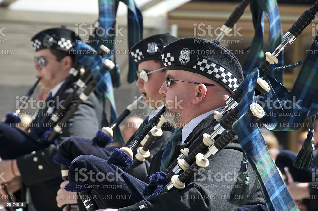 Bagpipers at Tartan Day Parade, New York City stock photo