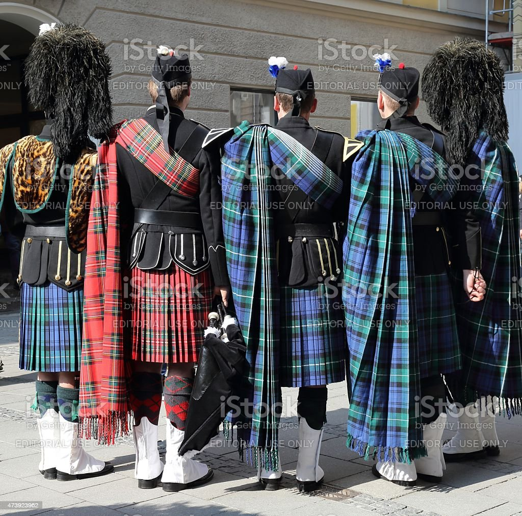 Bagpipers stock photo