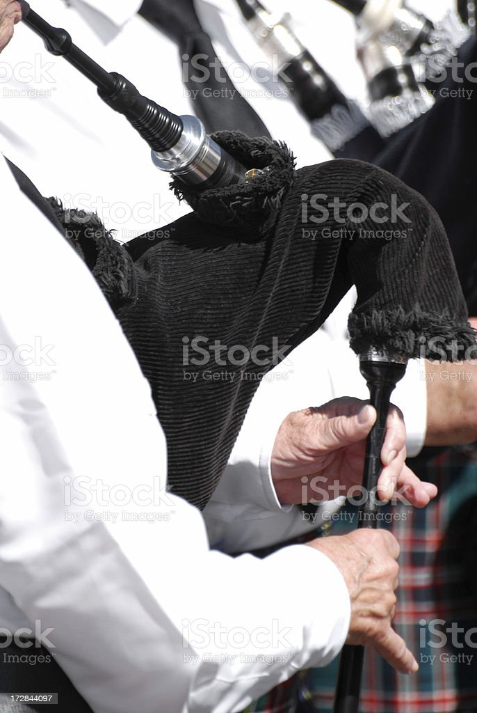 Bagpipes played at the Scottish Highland Games. stock photo