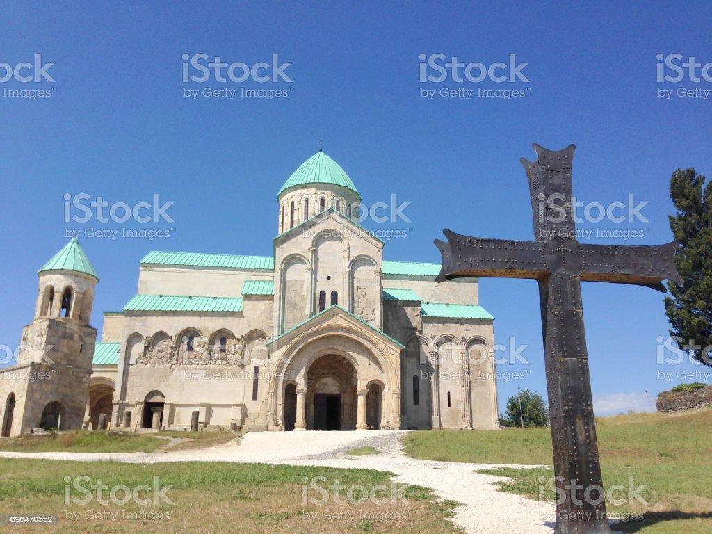 Bagrati Cathedral at Kutaisi, Georgia stock photo