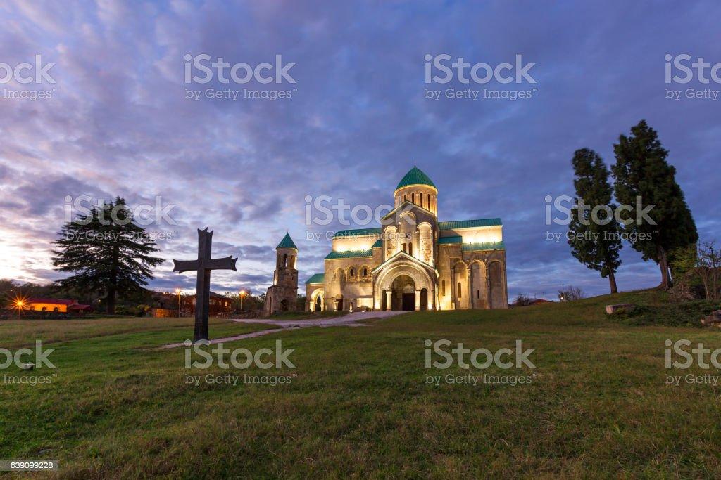 Bagrati Cathedral at the sunset, Kutaisi, Georgia stock photo