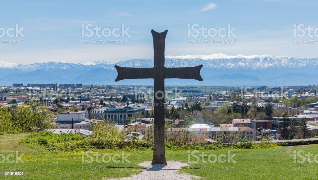 Bagrati Cathedral Cross II stock photo