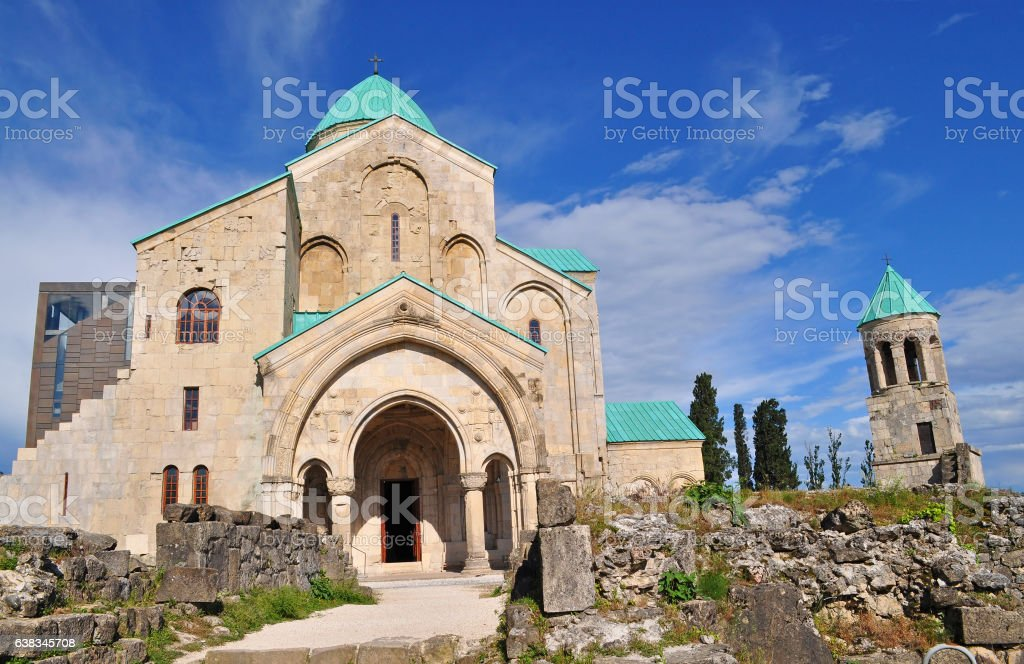 Bagrati Cathedral  in Kutaisi, Georgia. stock photo