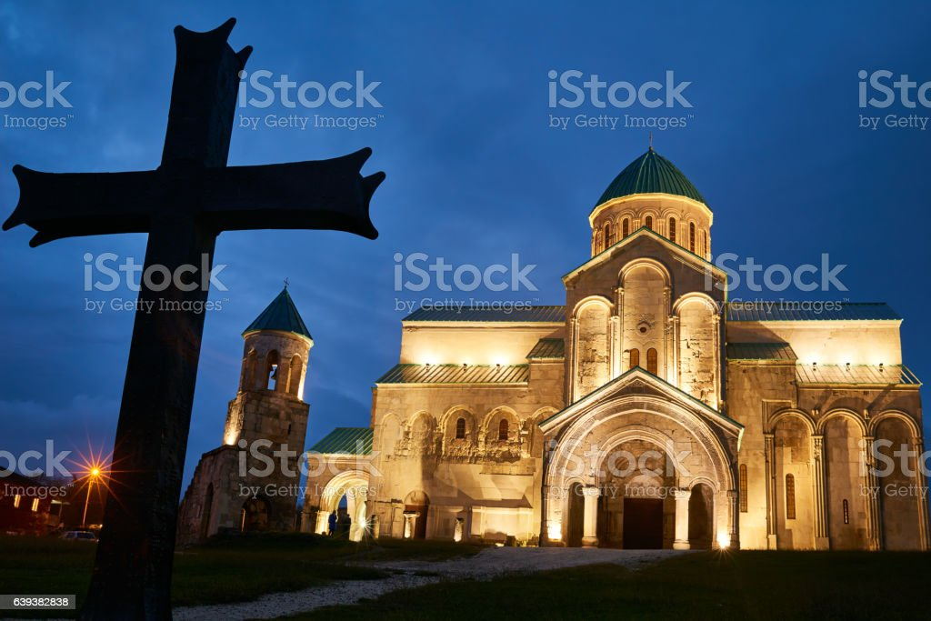 Bagrati orthodox christian cathedral in kutaisi, Georgia stock photo
