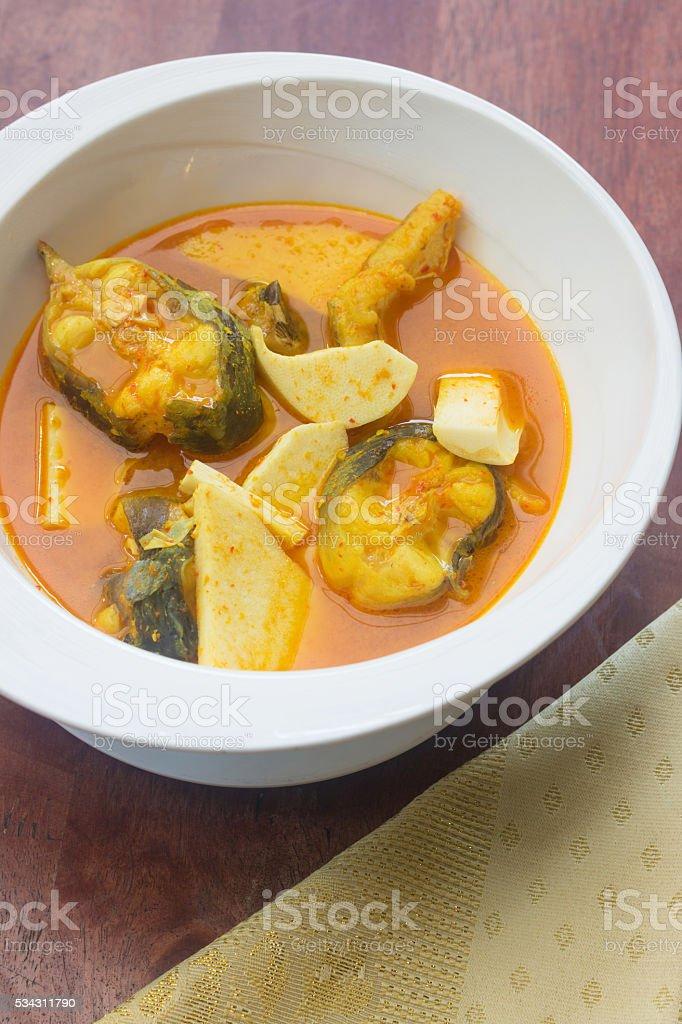 bagrid catfish sour soup stock photo