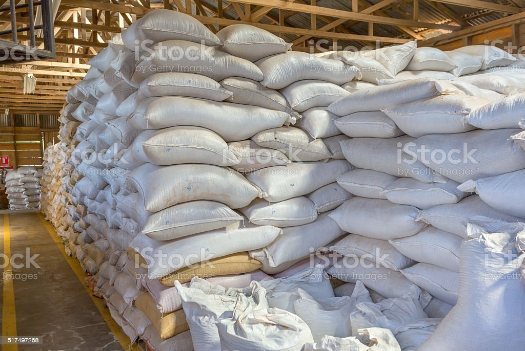 Bags in warehouse stock photo
