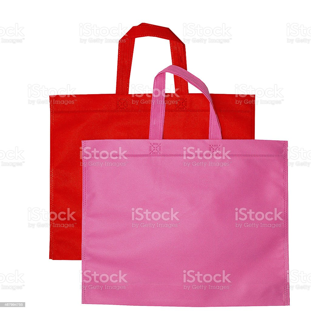 bags isolated on white pink royalty-free stock photo