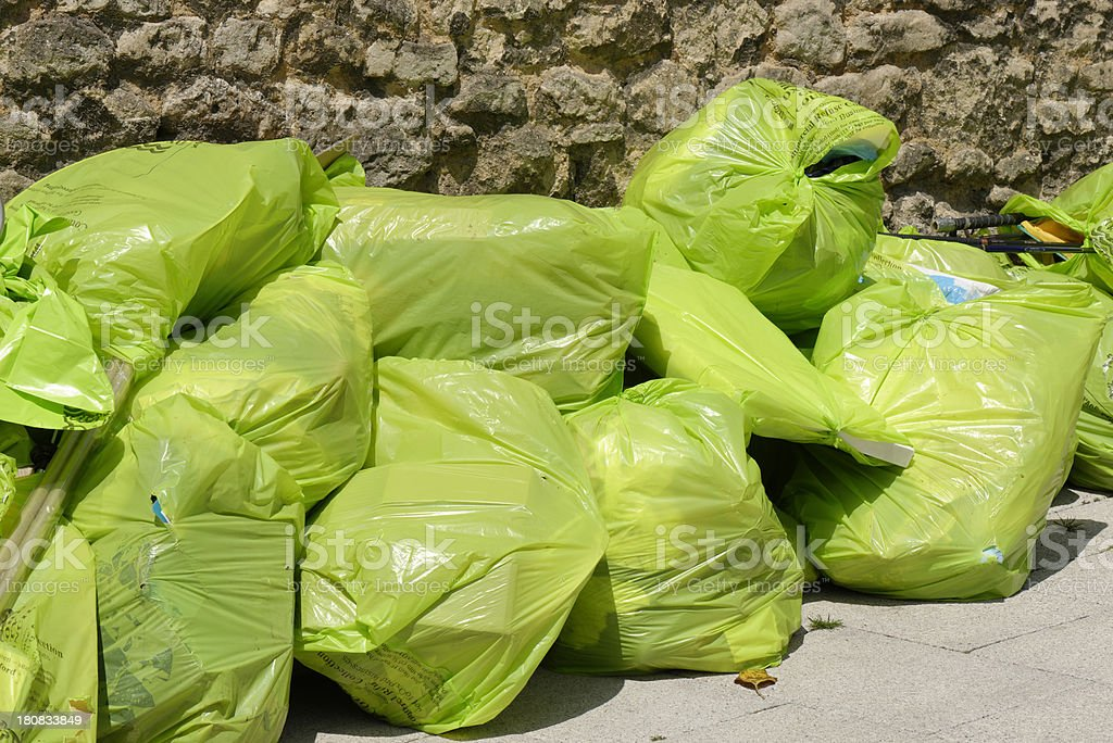 Bags Of Garbage stock photo