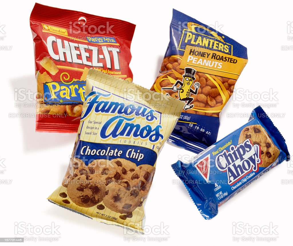 bags of snack stock photo
