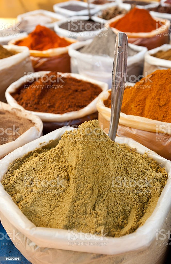 Bags of spices royalty-free stock photo