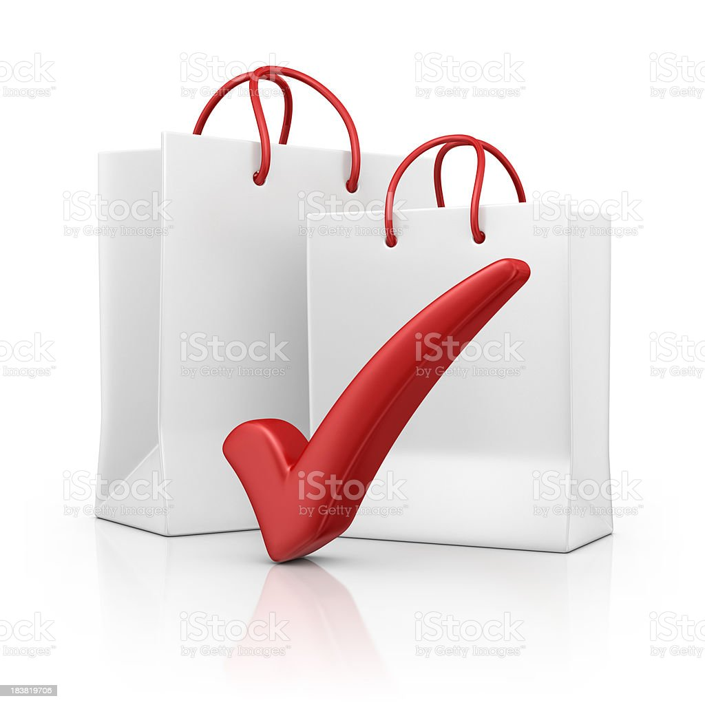 bags with check mark royalty-free stock photo