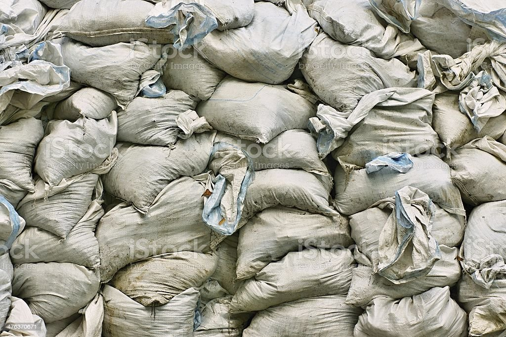 Bags with dry garbage royalty-free stock photo