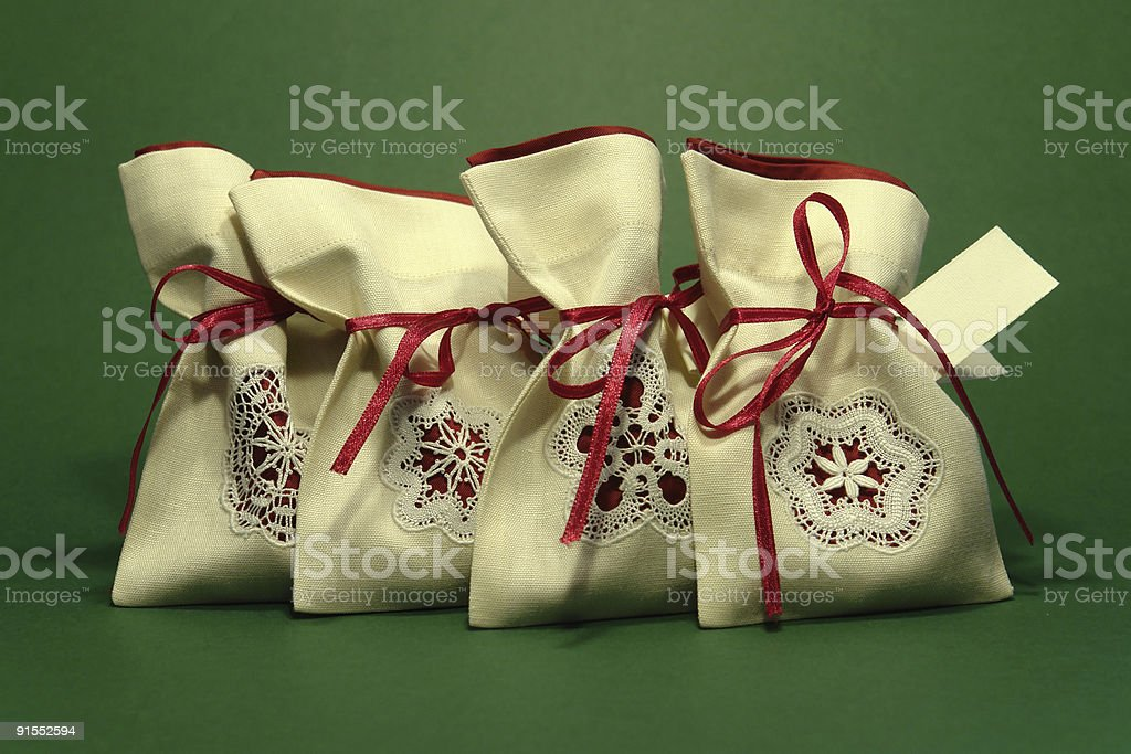 Bags with laces stock photo