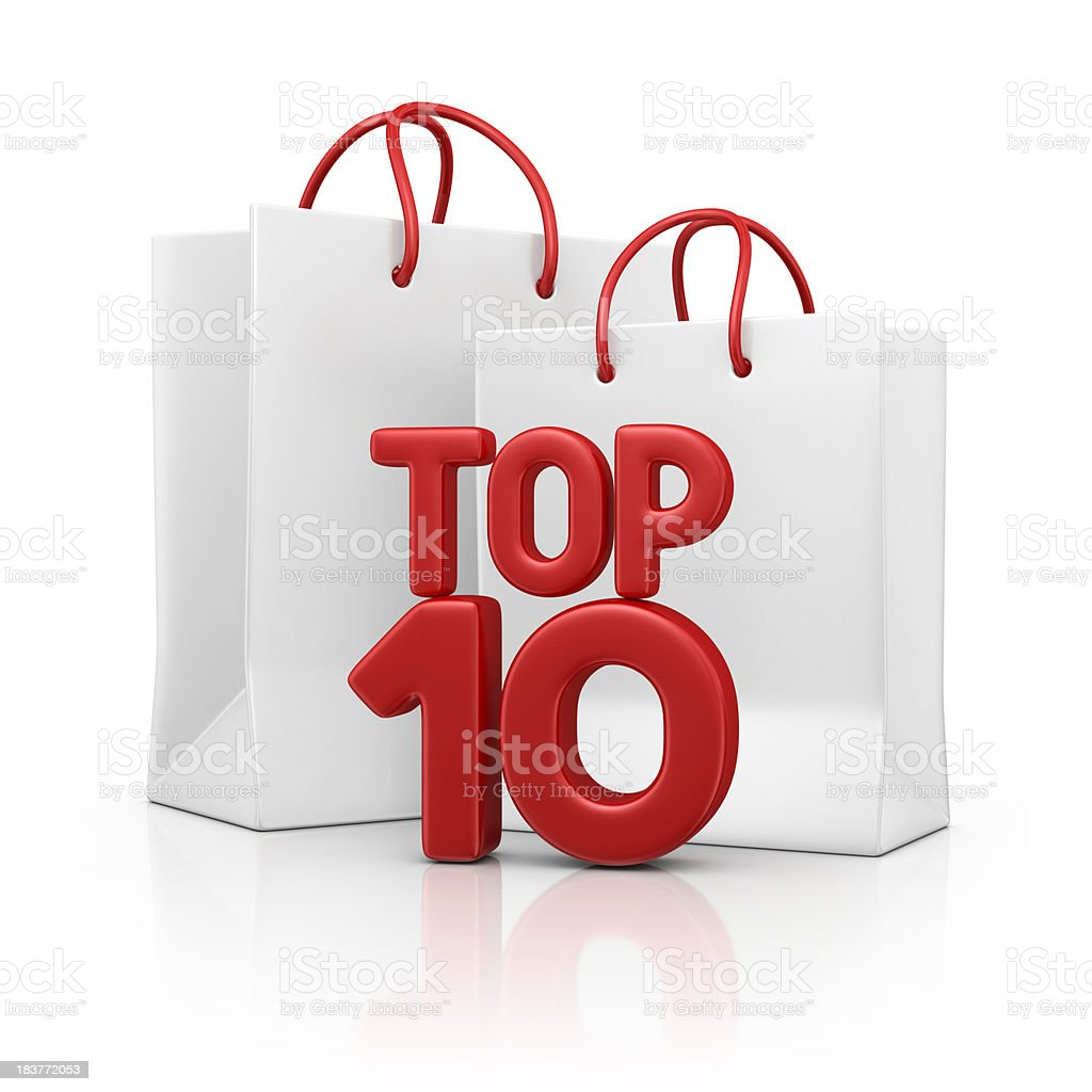 bags with top ten stock photo