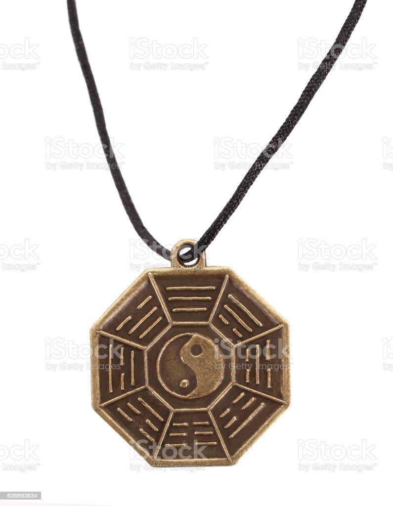 Bagua Yin and Yang Eight Symbols Amulet Octagon stock photo