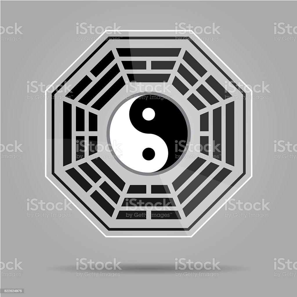 Bagua Yin Yang symbol. stock photo