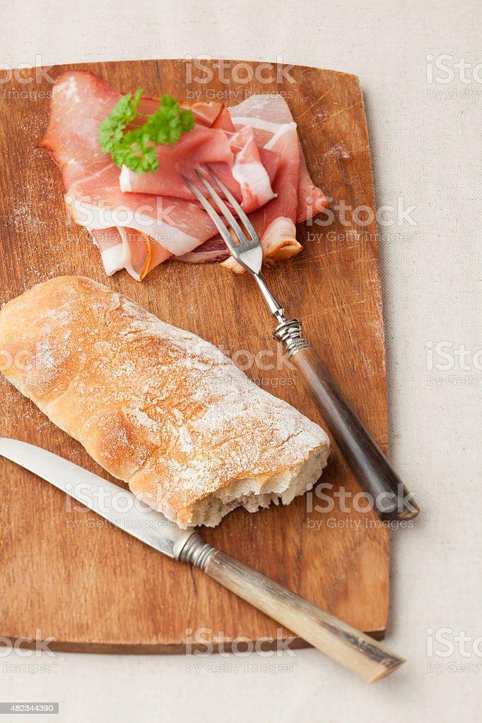 Baguette bread stock photo