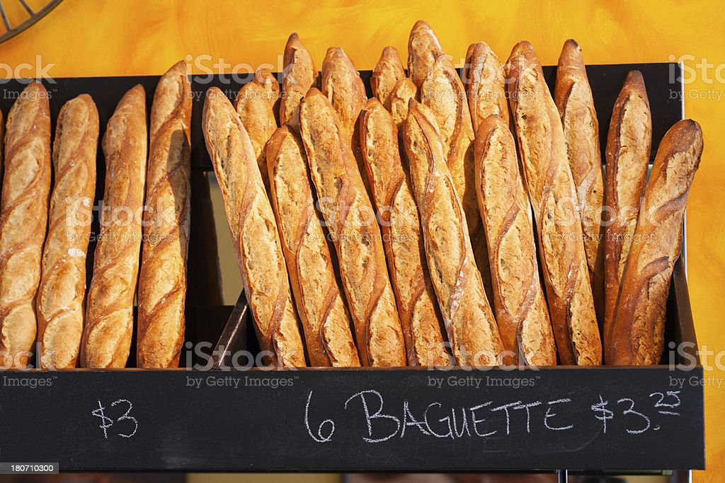 Baguette for sale. royalty-free stock photo