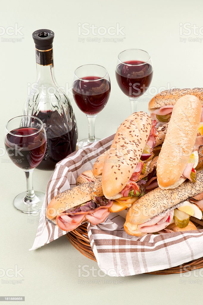 Baguette picnic royalty-free stock photo