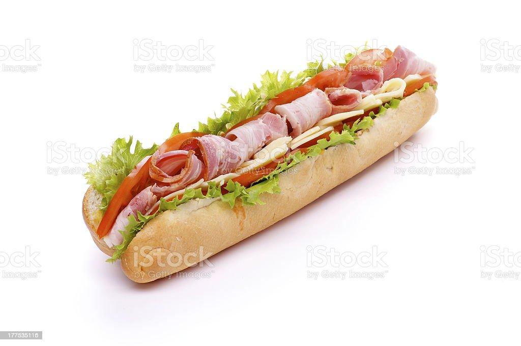 Baguette Sandwich royalty-free stock photo