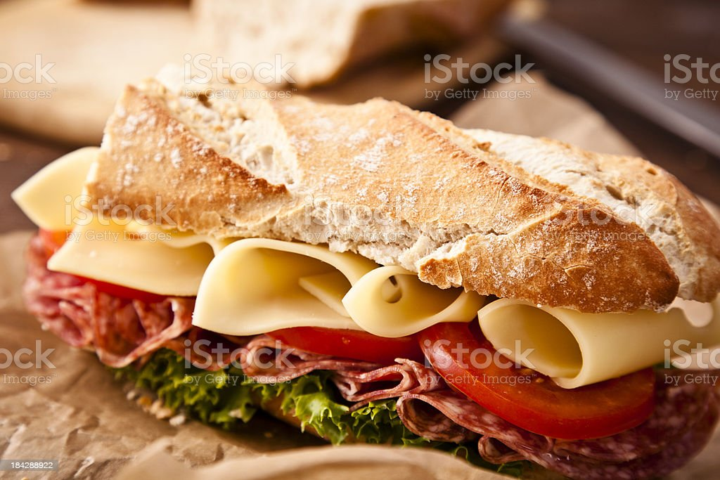 Baguette Sandwich stock photo