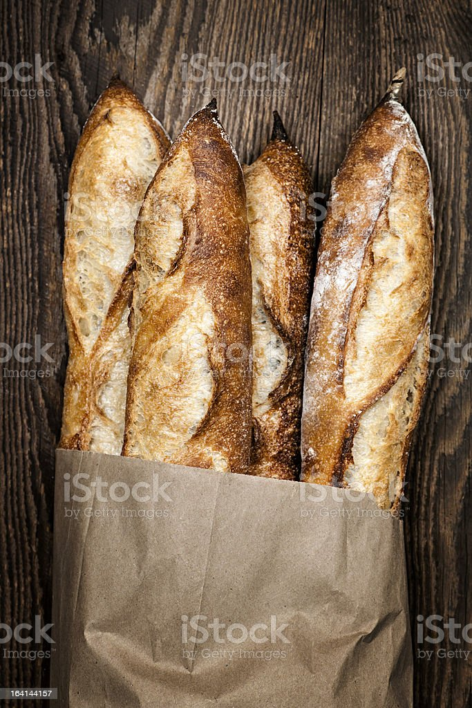 Baguettes bread royalty-free stock photo
