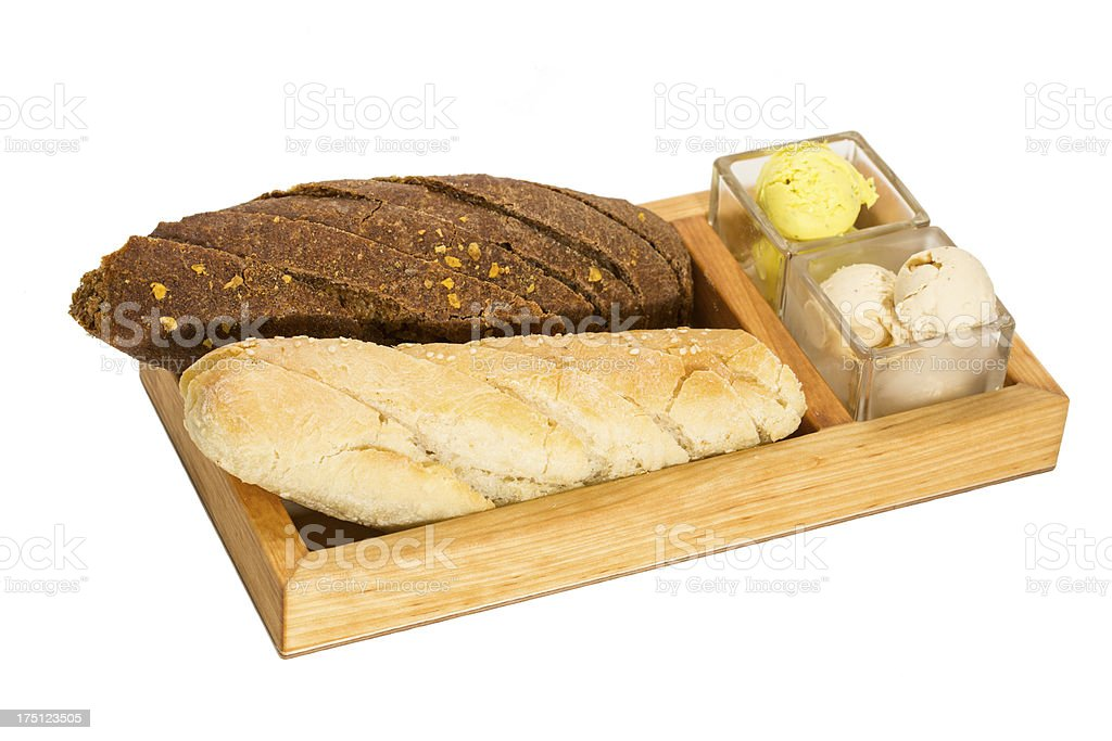 baguettes with butter royalty-free stock photo