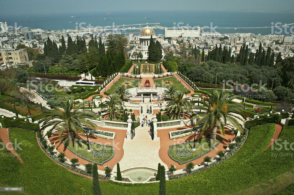 Bahai gardens, Haifa, Israel. royalty-free stock photo
