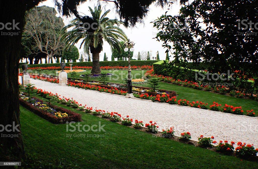 Bahai Gardens, Haifa Israel stock photo