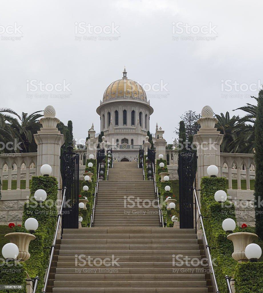 Baha'i Gardens Haifa stock photo