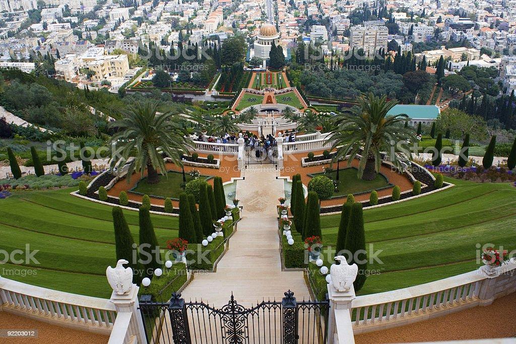 Bahai Gardens, Haifa. stock photo
