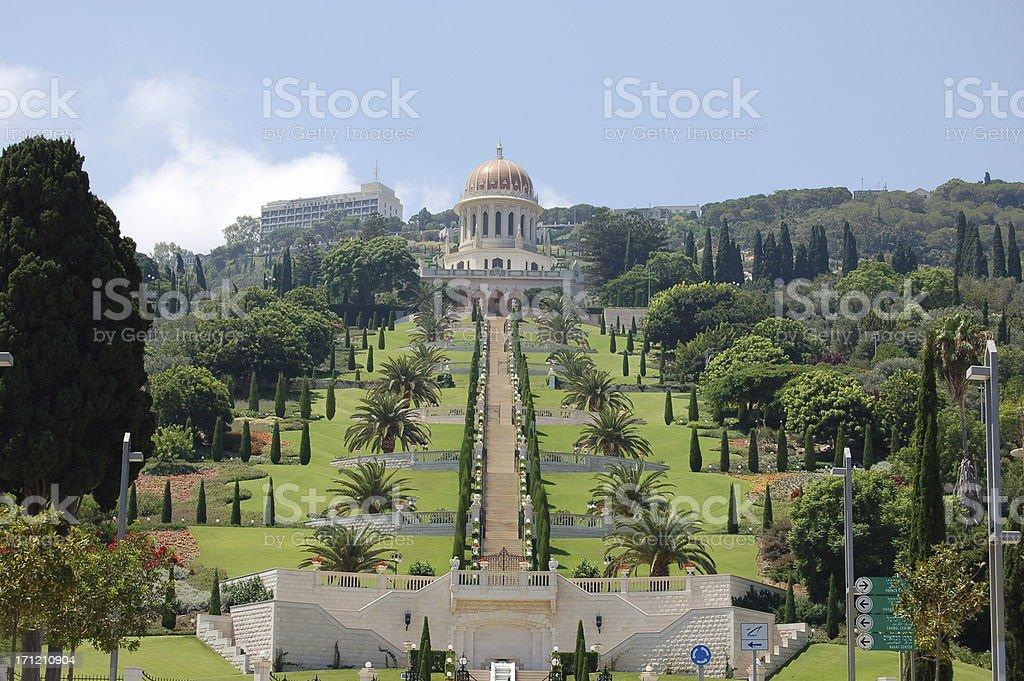 Bahai Gardens royalty-free stock photo