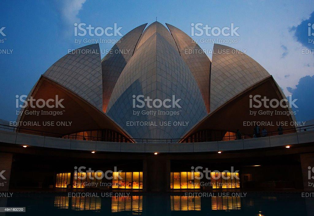 Baha'i Lotus Temple, New Delhi, India stock photo