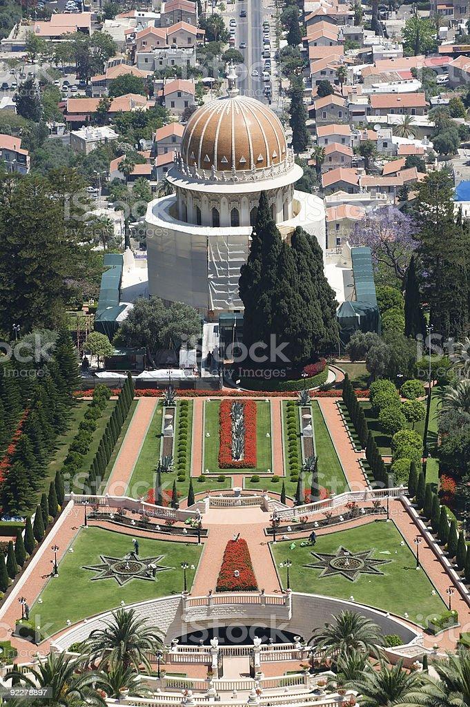 Bahai temple royalty-free stock photo