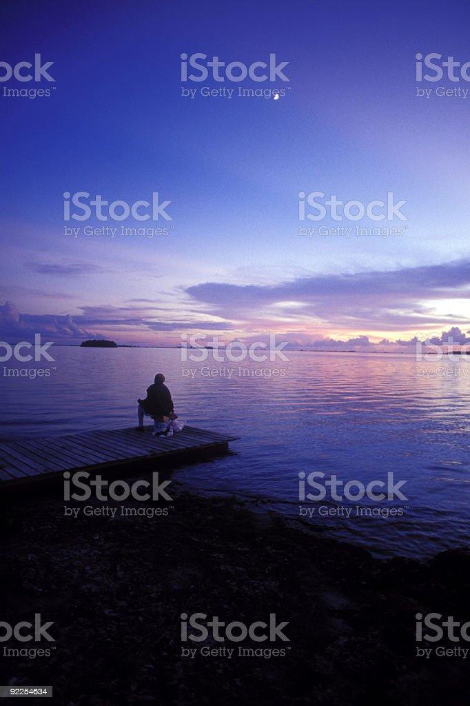 Bahamas at dusk stock photo