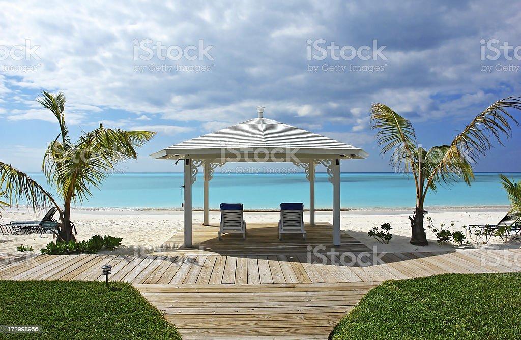 Bahamas Cape Santa Maria Vacation Holiday Summer Spot royalty-free stock photo